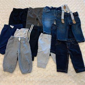 Bundle of 11 baby pants